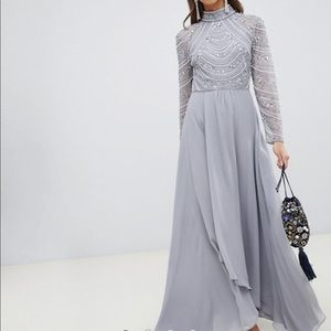 NWT Gray Maxi Dress